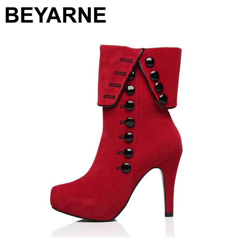 Online Get Cheap Red High Heel Boots -Aliexpress.com | Alibaba Group