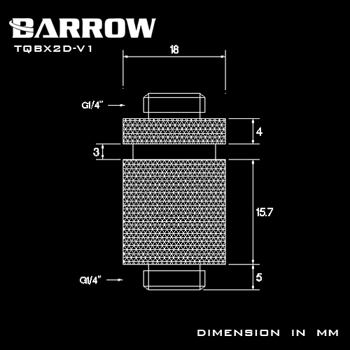 Купить с кэшбэком BARROW G1/4 Male to Male Rotary Connectors / Extender 20.2mm M to M Fitting Computer Accessories Metal Fittings