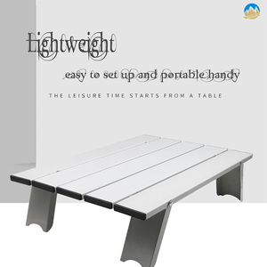 Image 2 - Outdoor travel aluminum portable folding camping table foldable folding picnic tables hiking lightweight roll up camp desk table
