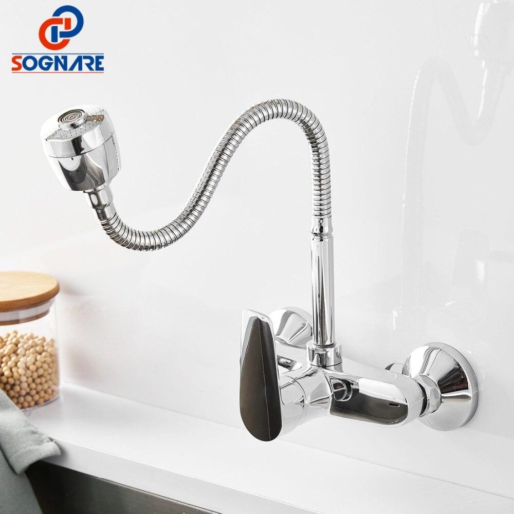SOGNARE tout sens cuisine robinet flux pulvérisateur cuisine mélangeur évier robinet mitigeur cuisine Bar robinet tuyau Double trou