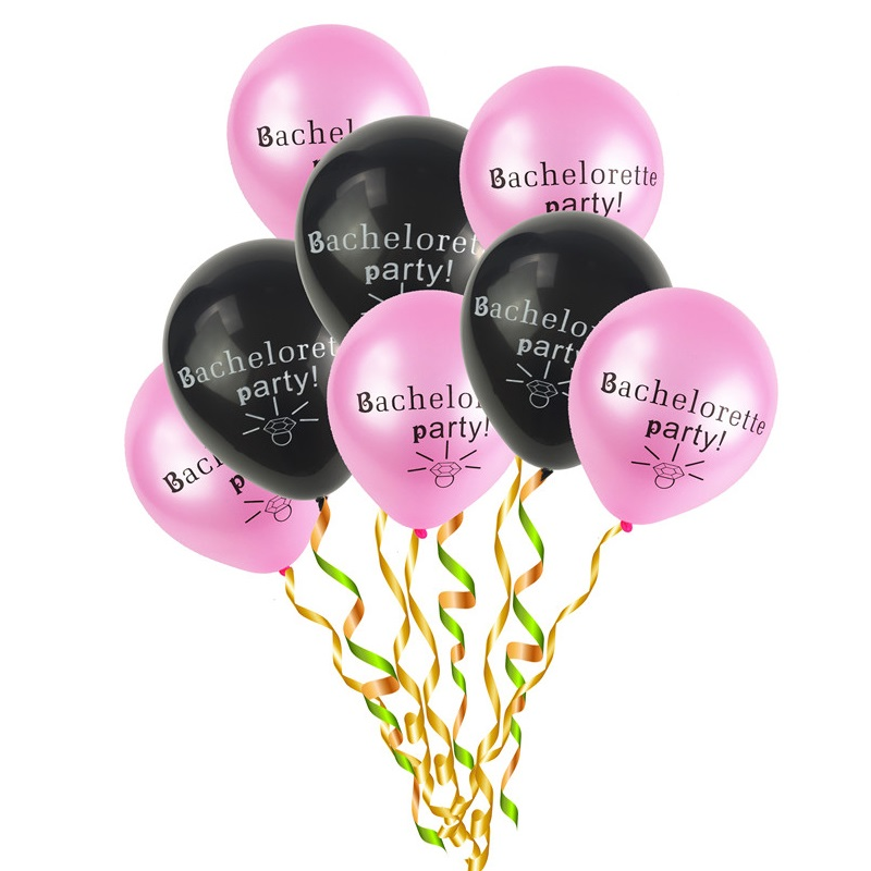 Event & Party 10 10pcs/set Pink Black Diamond Letters Latex Balloon Girls Hen Night Wedding Bride Bachelorette Party Decorations Supplies Toy Always Buy Good Festive & Party Supplies