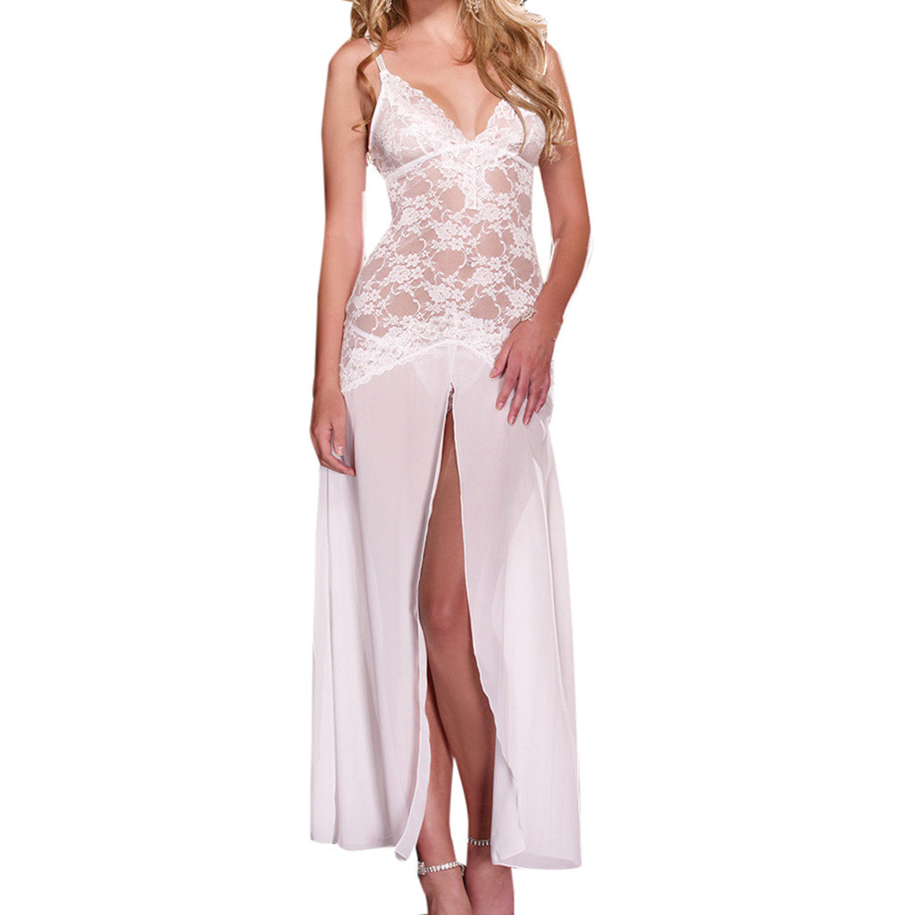 Sexy Lingerie Women Erotic Pajamas Underwear Female Babydoll Sleep Dress Thin Halter Backless For Adults Costumes Backless H4