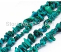 turquoise gravel drilling 85cm long set **  spacer beads wholesale fashion jewelry natural stone