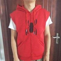 2017 Sıcak Yeni Örümcek Adam Homecoming Cosplay Kostüm Kapüşonlu Yelek Cosplay Kazak Hoodies
