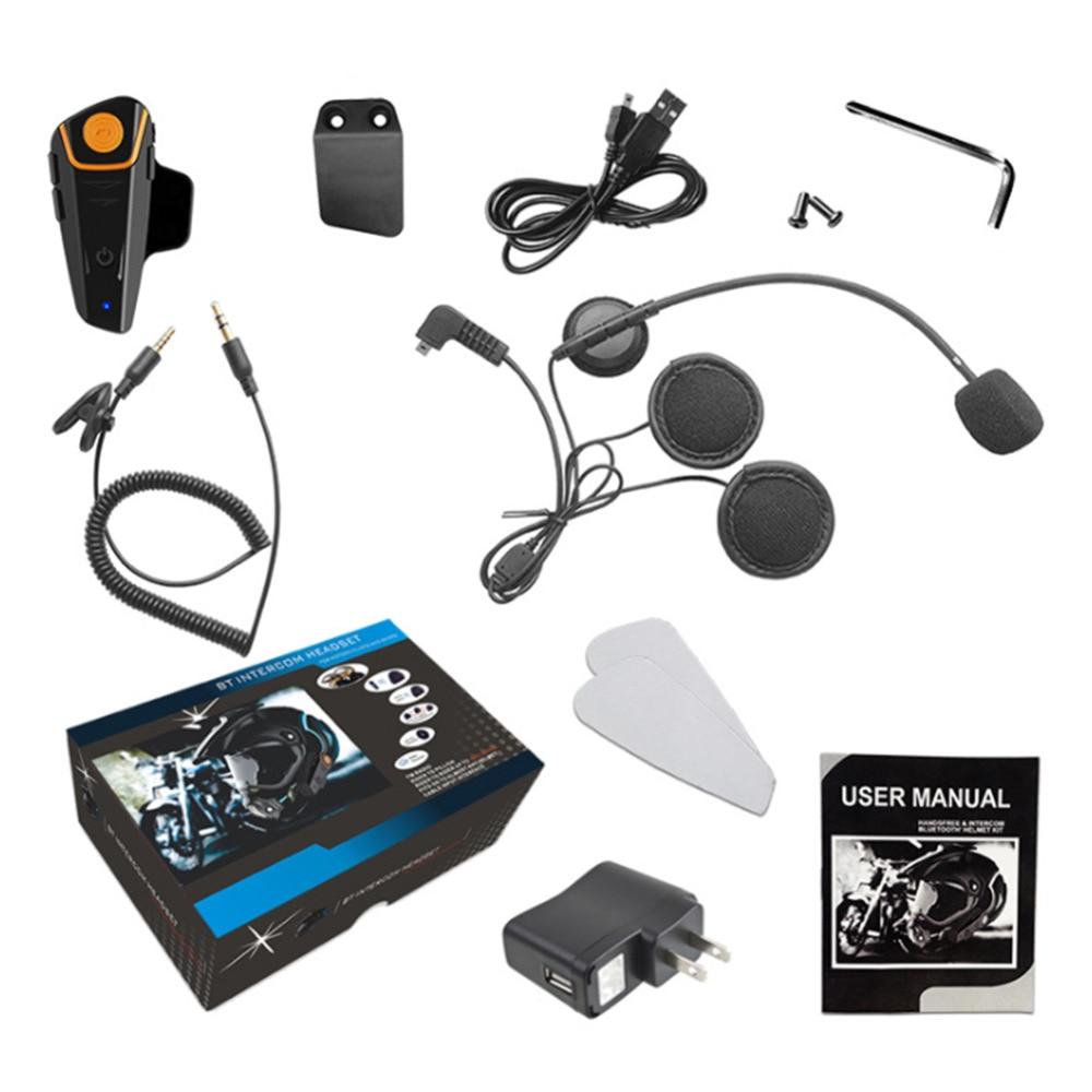 New Hot BT S2 Waterproof Bluetooth Motorcycle Motorbike Headset Helmet Intercom AL