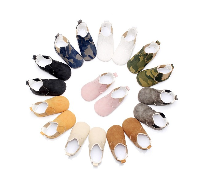 2019 hot sell fall fashion new style pu leather baby moccasins shoes sofe sole baby girls boys shoes first walkers baby boots 1