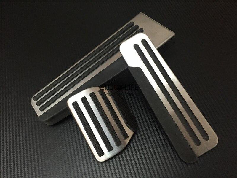 3pcs Gas Fuel Brake Footrest Foot Pedal Pad Cover Trim For Infiniti Q50 Q60 Q70 QX50 QX60 QX70 Q70L brand new 3pcs aluminium non slip foot rest fuel gas brake pedal cover for mazda 3 at 2011 2015