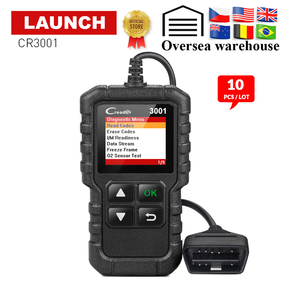 LAUNCH X431 CR3001 OBD2 Car Code reader Scanner support full obdii obd 2 diagnostic function with Multi language pk ELM327 NL100|Code Readers & Scan Tools| |  - title=