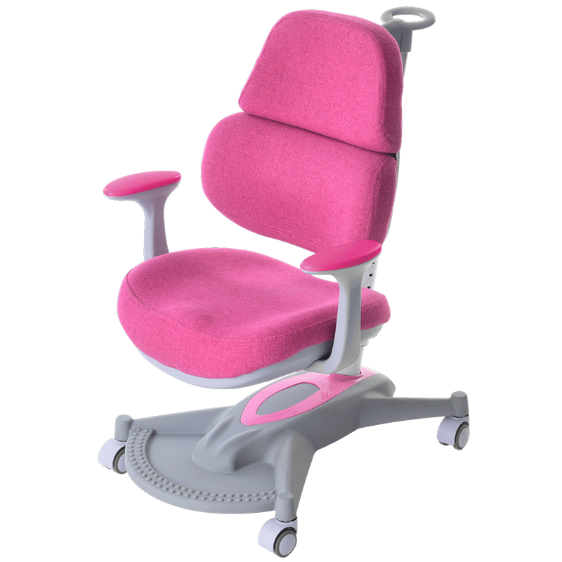 Children's Lifted Study Chair Kids Corrective Sitting Chair With Armrest And Footrest Student Double Back Writing Chair Slidable