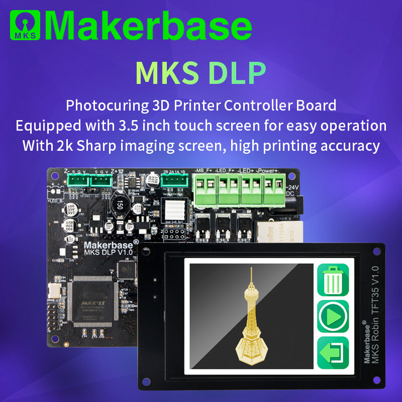 Photocuring 3D Printer Controller Board With TFT Display 2K Sharp Screen MKS DLP Mainboard Set