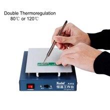 Estación de precalentamiento de termostato, pantalla LCD de teléfono móvil, placa de circuito de teléfono de Máquina separadora abierta, estación de desoldar