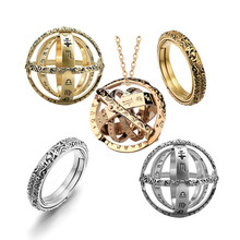2019 Hot Creative Astronomical Sphere Ball Rings Cosmic Finger Ring Complex Rotating Variable Form Pendant Ring Jewelry Gift(China)