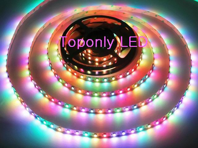 DC5V 2812IC Digital Flexible LED Strip IP68 Waterproof SMD5050 RGB Ribbon Light 60leds/m 3m/reel 10reel/lot DHL freeshipping