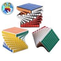 Shengshou 9x9x9 Головоломка Куб профессиональных pvc и матовая Наклейки Cubo magico головоломки Скорость Классические игрушки Обучение и образование иг