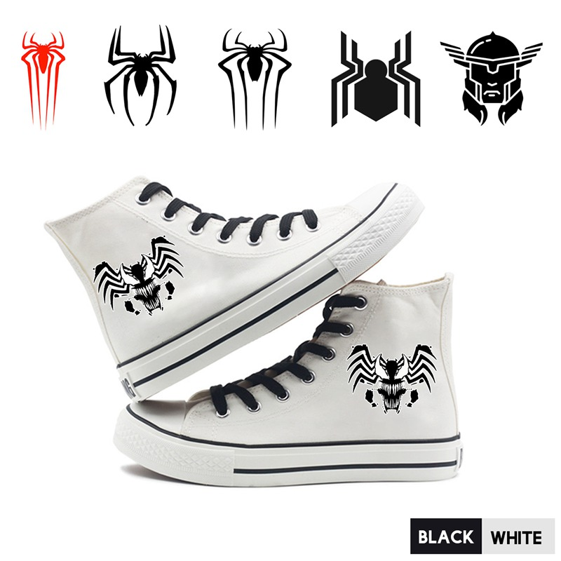 Dynamic Marvel Superhero Venom Spider-man Thor Cartoon High Top Breathable Canvas Uppers Sneakers College Fashion Shoe Men A193291 Shoes
