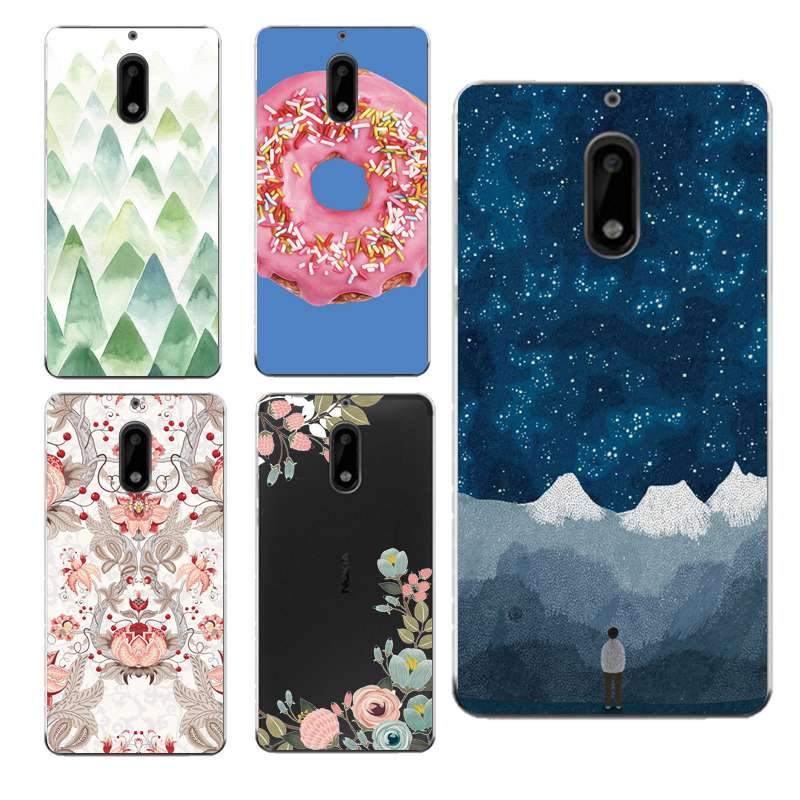 Flora Soft Clear TPU Phone Case For Nokia3 5 6 8 N540 N640 N535 N830 Starry Icecream Mountain Donuts Coque Cover Free Shipping