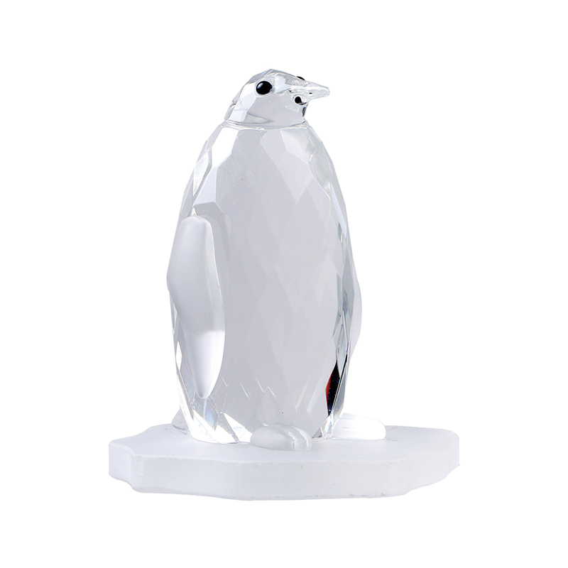 H&D Clear Cute Crystal Penguin Animal Christmas Gift Art&Collection Tabletop Paperweight Home&Wedding Decoration Gifts