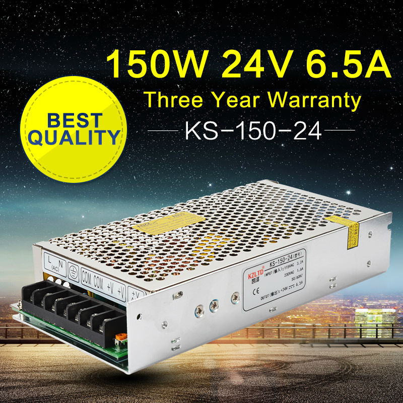 <font><b>LED</b></font> Power Supply 24V <font><b>150W</b></font> <font><b>220V</b></font> 110V Input AC to DC Power Suppliers for <font><b>LED</b></font> Display Home Appliances Stage Light High Efficiency