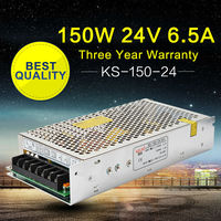 LED Power Supply 24V 150W 220V 110V Input AC to DC Power Suppliers for LED Display Home Appliances Stage Light High Efficiency