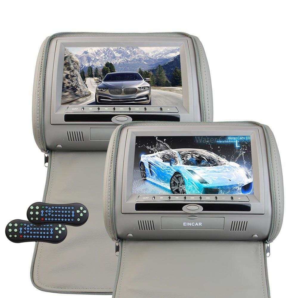 9 Inch Headrest Video Monitor Auto Car DVD Player LCD Digital Screen Monitor Backseat DVD/CD/USB Player with Remote Control стоимость