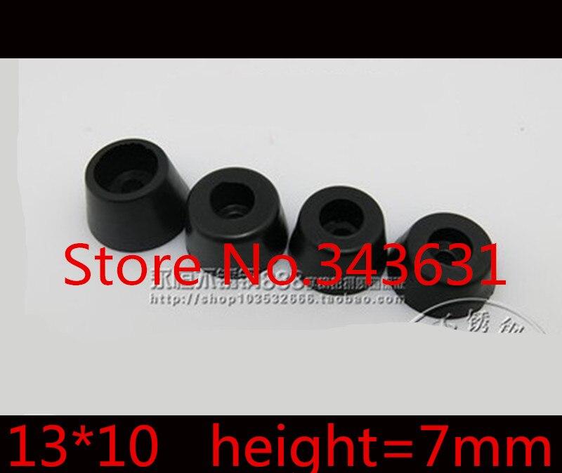 100Pcs 13 X 10mm  Black Durable Rubber Instrument Case Non-slip Cabinet Instrument Box Case Foot Bumpers Feet
