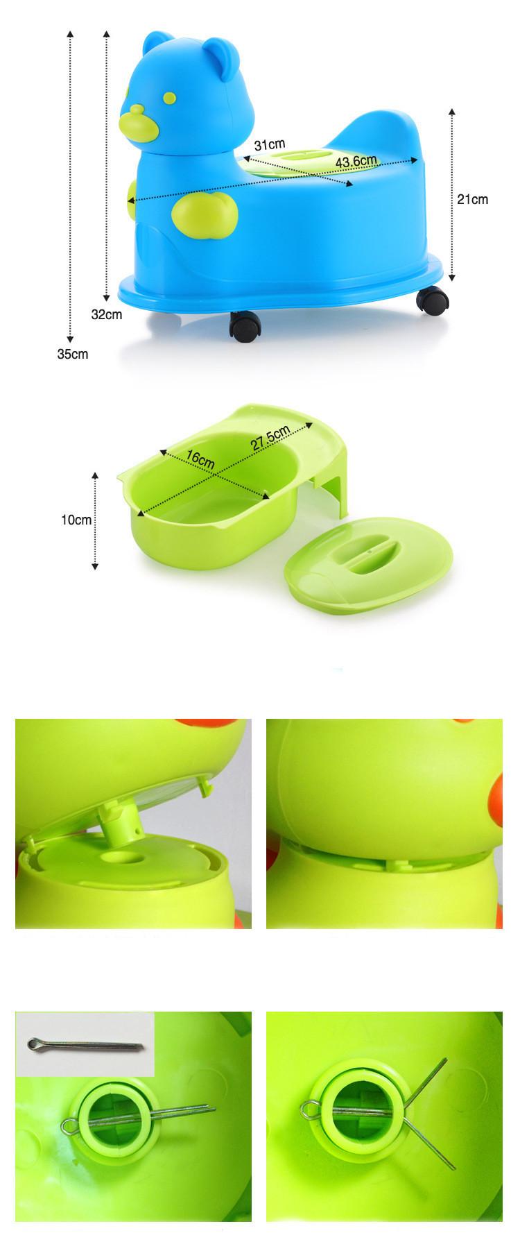 горшки детские каваи медведь многофункциональный горшок дети туалет стул с портативный горшок ребенка иордании колеса игрушечный автомобиль