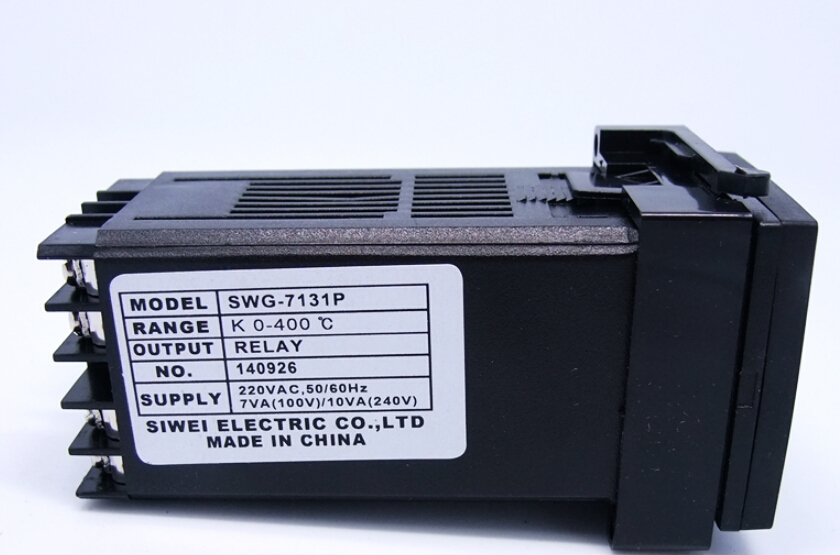 Zhejiang Siwei qym temperature controller thermostat  k-type 0-400 relay SWG-7131P Digital Knob