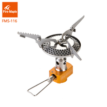FMS116 One-Piece Stainless Gas Stove Big Burner Folding Lightweight For Outdoor Camping Hiking Miniature Portable