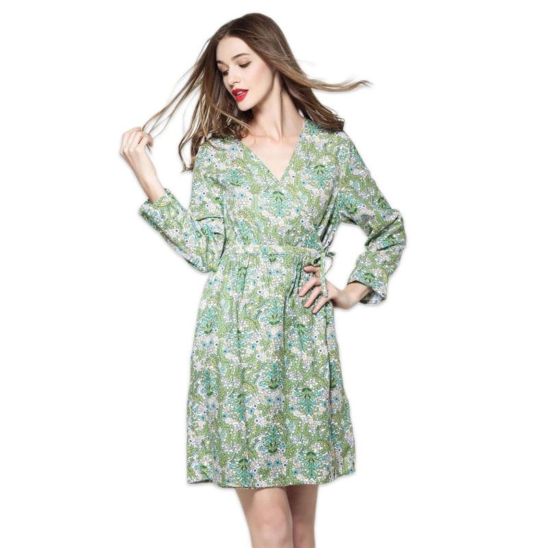 Summer cozy robe floral bathrobes women bride gown 2018 casual ...