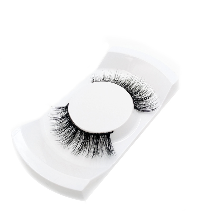 1pair Natural False Eyelashes Kits Makeup 3d Mink Lashes Eyelash