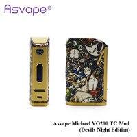 Новые оригинальные Asvape Michael VO200 модель TC (Devils Night Edition) Создано 18650 Батарея для электронных сигарет Tank