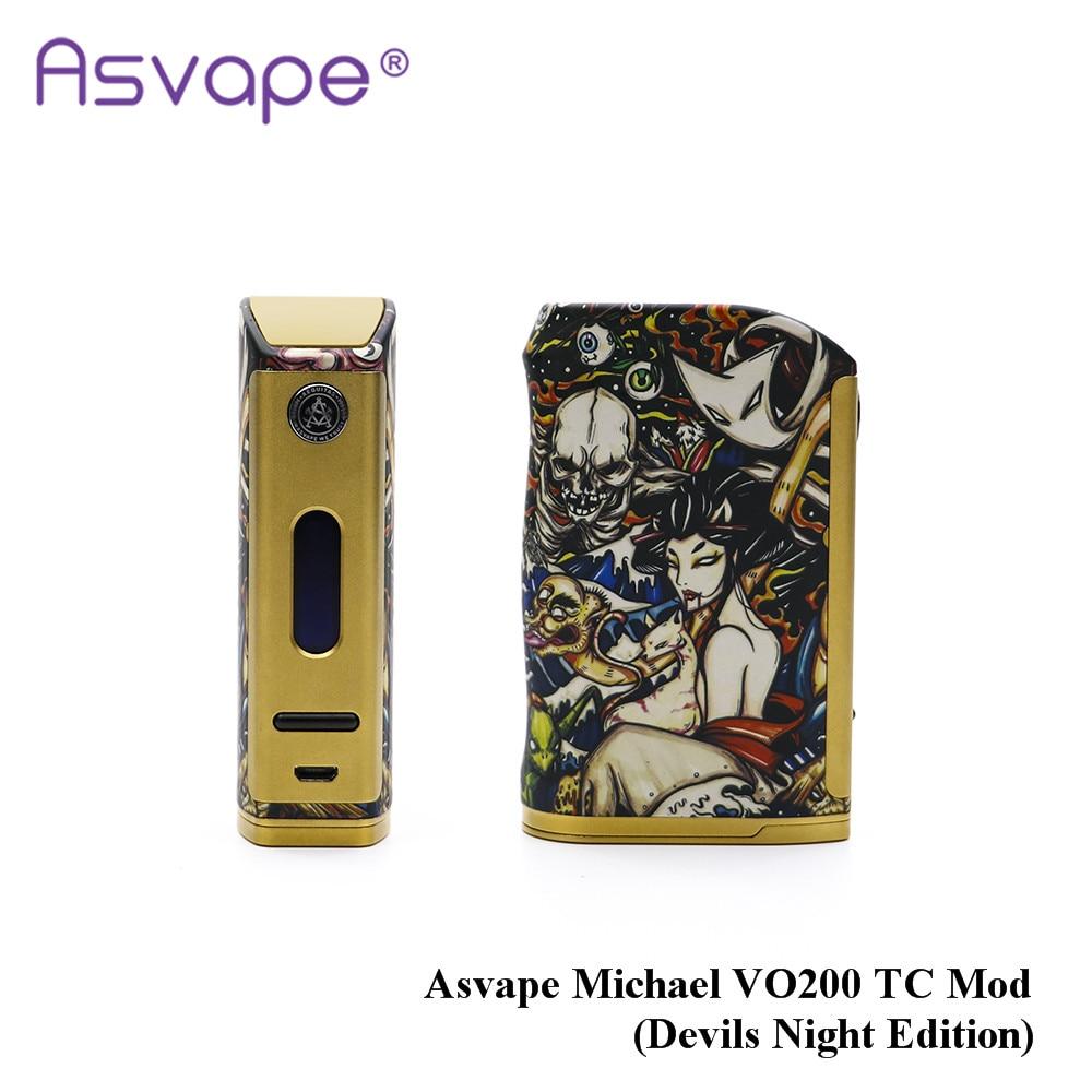 Más nuevo original asvape Michael VO200 TC MOD (diablos edición noche) accionado por 18650 batería para cigarrillo electrónico
