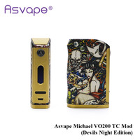 Newest Original Asvape Michael VO200 TC Mod (Devils Night Edition) powered by 18650 Battery for Electronic Cigarette Tank
