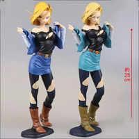 Dragon ball Z brillo y glamour Android N ° 18 de figura de acción de Dragon ball juguetes 25cm