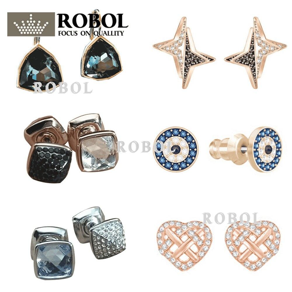 d156d7ff2185 ROBOL 925 Plata alta calidad Swa pendientes originales fabricación de joyas  para mujeres venta al por mayor marca 1 1 producción regalos para mujeres