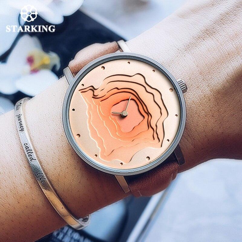 STARKING Nuevo Diseño Creativo Reloj Mineral Estilo de Cuarzo Reloj de Las Mujeres Ocasionales de Las Señoras de Reloj de Pulsera de Regalo Relojes de Época