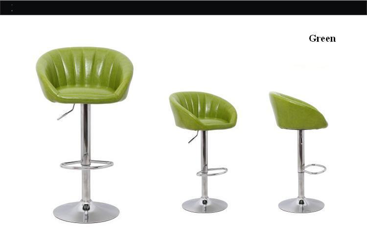 restaurant rotation chair computer PU leather seat stool exhibition info center chair black green coffee black color stroysnab info