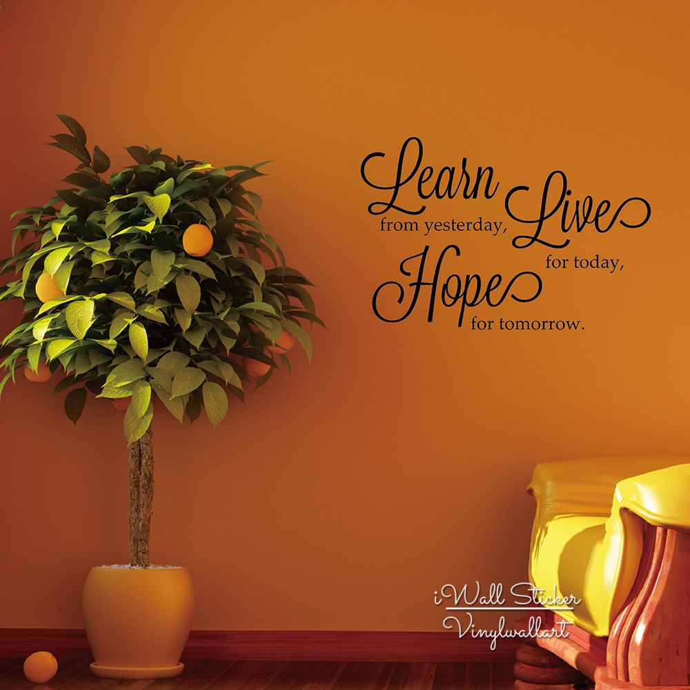 Life Quote Wall Sticker Inspirational Quote Wall Decal