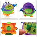 Brand Infants Kid Rotate No Spill Bowl Dish Tableware Baby Snack Bowl Food Container Children Monster Snacks Cup