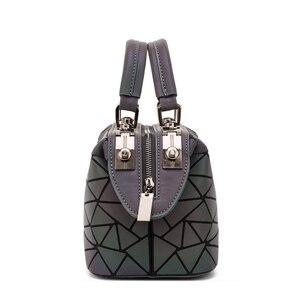 Image 5 - Fashion Geometric Handbag Bag Women Luminous Boston Bag Female Messenger Bags Ladies Plain Shoulder Bags Tote Clutch Sac bolso