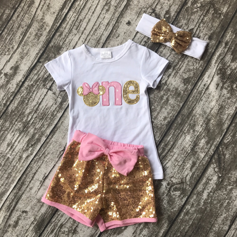 Baby Girls Boutique Clothing Children Outfits One Years -8731