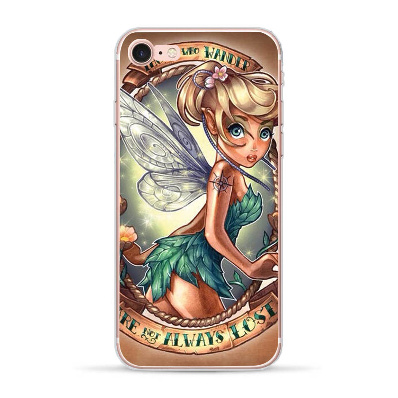 For Apple iPhone 5 5S SE 6 6S 7 8 Plus X XS MAX XR Phone case Soft Silicone TPU case Back Cover Coque Tattoo Princess Sexy in Fitted Cases from Cellphones Telecommunications