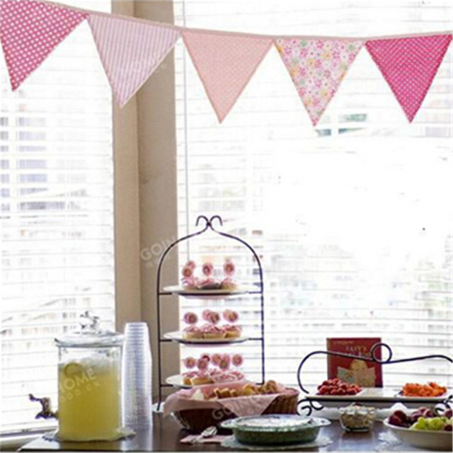 colorful fabric flags bunting Pennant party decoration banner home decoration party supplies events wedding decoration IC678809
