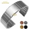 Pulsera de acero inoxidable sólido correa de metal 16 18 20 22mm correa de reloj de pulsera reloj de plata banda de color rosa en oro cinturón