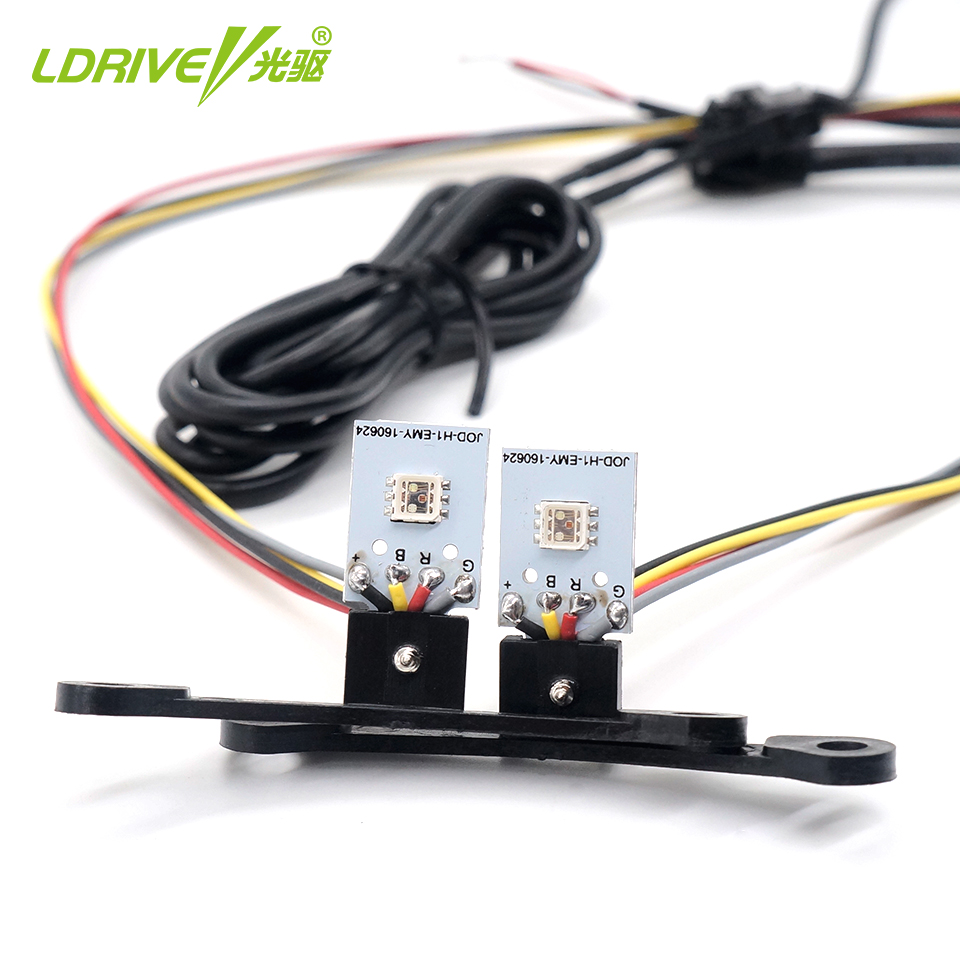 Car LED Multi Colors RGB Devil Eyes Car APP Control LED Demon Eyes Self-protection For Headlight Projector Lens Retrofit