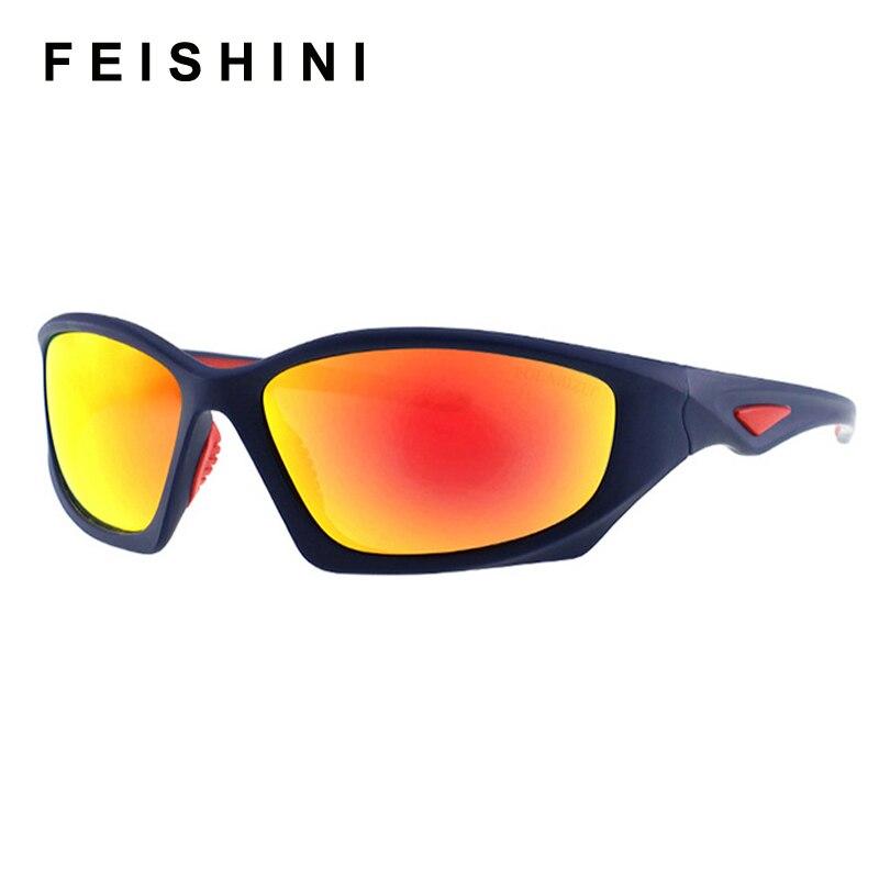 FEISHINI 2019 Retro Mirror Sunglasses Men Polarized Vintage Quality Brand Designer Sun Glasses Clear Man Driving Goggles UV400 in Men 39 s Sunglasses from Apparel Accessories