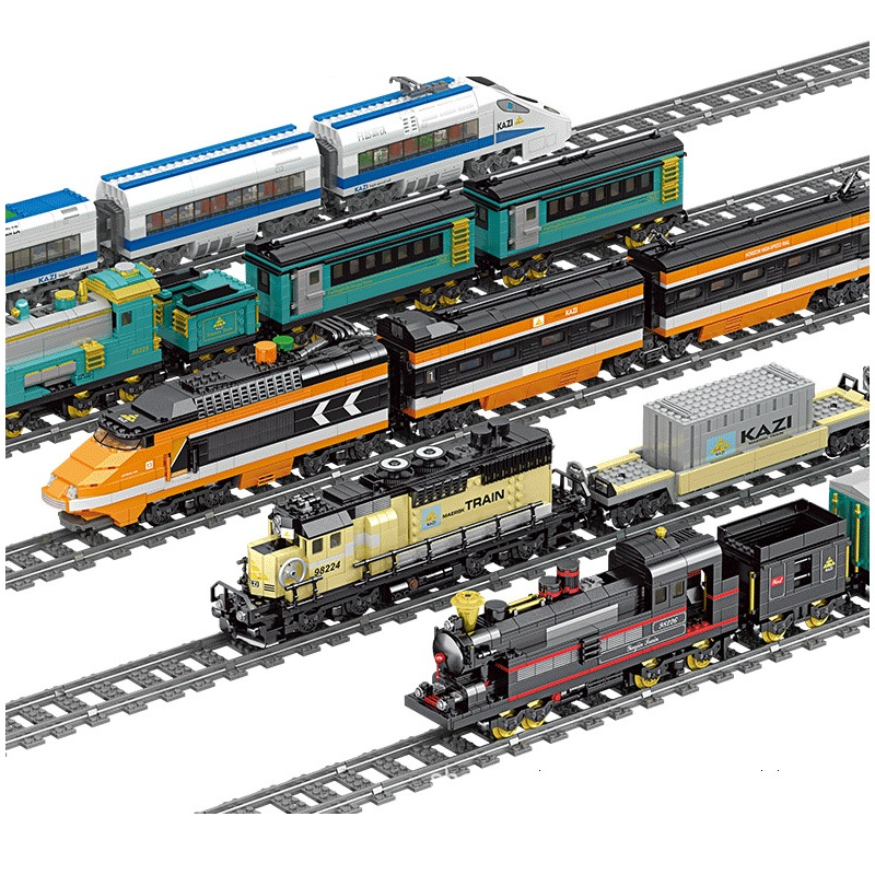 Multiple Style Technic Electric Motor Light Train Track Car Model Bricks Building Blocks Compatible Legoe Toys For Childrens(China)