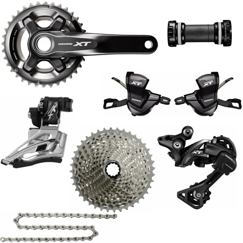 Shimano DEORE XT M8000 7 PCS 2x11 Speed Groupset 34 24 36 36 38 38 170mm