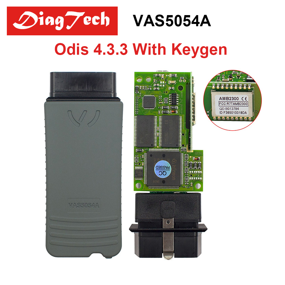 Original VAS5054A OKI Chip ODIS 4.33 With Free Keygen OBD2 Diagnostic Tool VAS5054 Bluetooth Support UDS Protocol VAS 5054A perfect vas 5054a with oki full chip amb2300 bluetooth adapter support uds obd2 car diagnostic detector tool dhl free