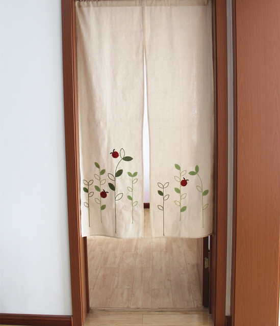 ZHH Left And Right Biparting Open Modern minimalist japanese door curtain Summer mosquito repelling High cloth & ZHH Left And Right Biparting Open Modern minimalist japanese door ...
